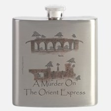 Murder on the Oriental Express 10x10 Appare Flask