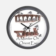 Murder on the Oriental Express 10x10 Ap Wall Clock