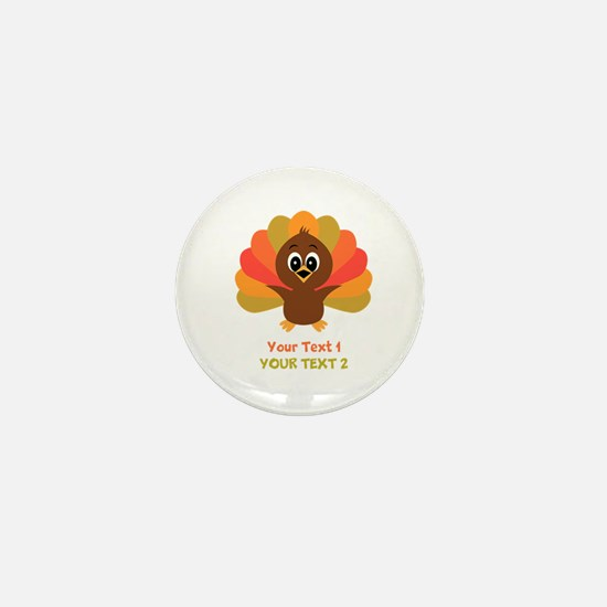 Personalize Little Turkey Mini Button (10 pack)