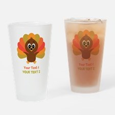 Personalize Little Turkey Drinking Glass