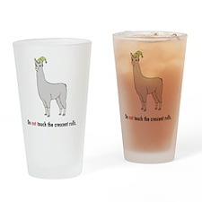 llama8-white Drinking Glass