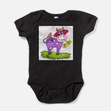 Purple Cow & Red Hat Infant Creeper Body Suit
