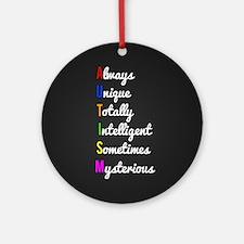 Autism Awareness Round Ornament