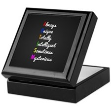 Autism Awareness Keepsake Box