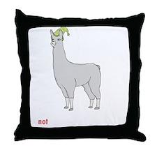 llama8-black Throw Pillow