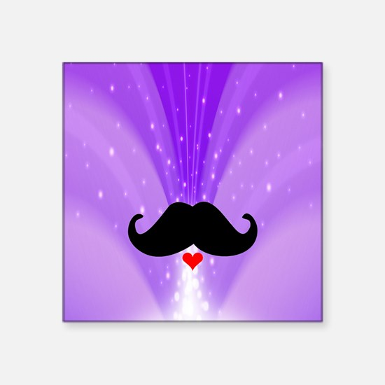 Speak LOVE out loud moustache d Sticker