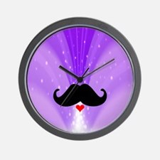 Speak LOVE out loud moustache d Wall Clock