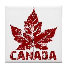 canada-maple-leaf Tile Coaster