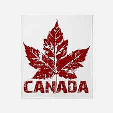 canada-maple-leaf Throw Blanket
