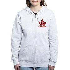 canada-maple-leaf Zip Hoodie