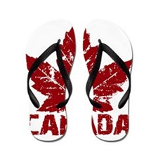canada-maple-leaf Flip Flops