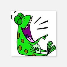 """FROG LAUGH ALONE Square Sticker 3"""" x 3"""""""