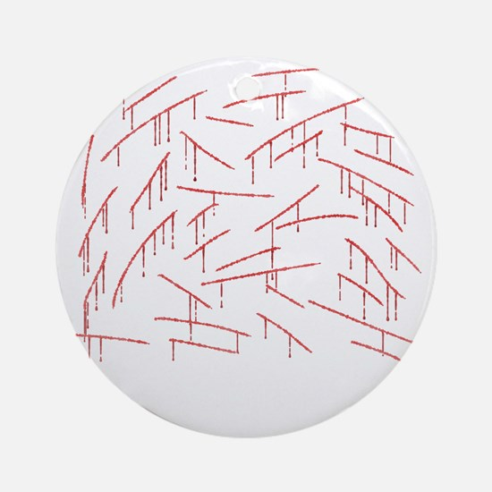 fix3-stabblack Round Ornament