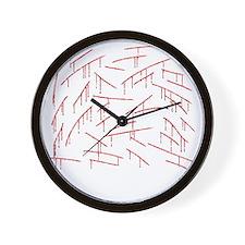 fix3-stabblack Wall Clock