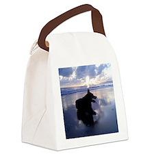 Blue Sunrise Canvas Lunch Bag