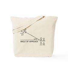 angle of aproach Tote Bag