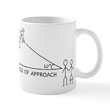 angle of aproach Mugs