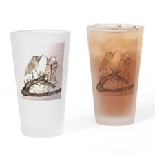 TomerTal two birds Drinking Glass