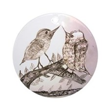TomerTal two birds Round Ornament