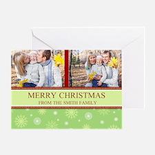 Colorful Snow Christmas Photo Greeting Card