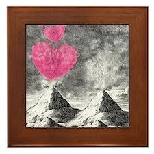 volcanoes image Framed Tile