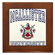 MCALLISTER University Framed Tile