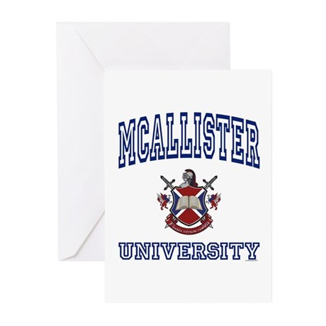 MCALLISTER University Greeting Cards (Pk of 10