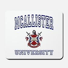 MCALLISTER University Mousepad