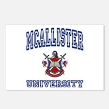 MCALLISTER University Postcards (Package of 8)