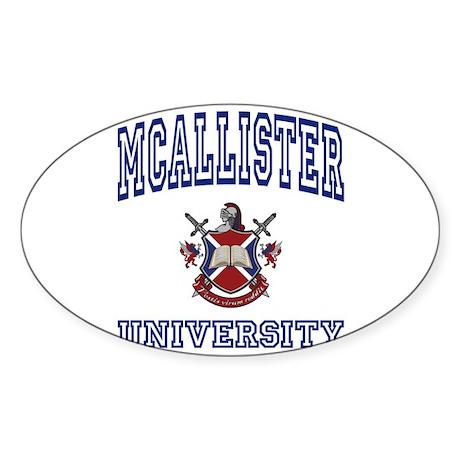 MCALLISTER University Oval Sticker