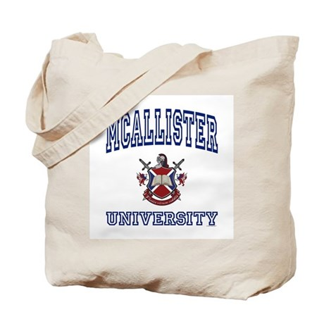 MCALLISTER University Tote Bag