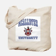 MCALLISTER University Tote Bag