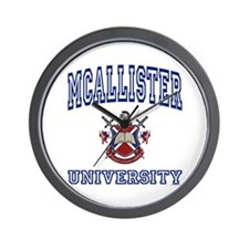 MCALLISTER University Wall Clock