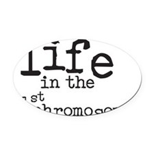 Life in the 21st chromosome Oval Car Magnet