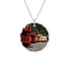 (4) caboose line Necklace