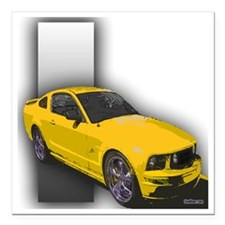 """2-tunerwshelby3 Square Car Magnet 3"""" x 3"""""""