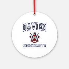 DAVIES University Ornament (Round)
