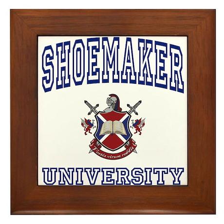 SHOEMAKER University Framed Tile