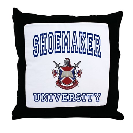 SHOEMAKER University Throw Pillow