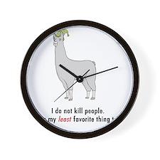 llama2-white Wall Clock