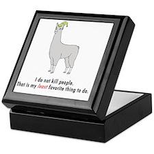 llama2-white Keepsake Box