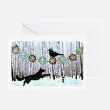 Merry And Bright II Greeting Cards