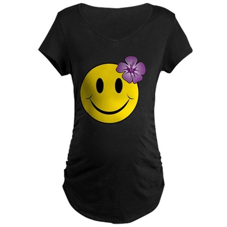 Happy Hawaii Maternity Dark T-Shirt