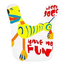 Three Legged Dogs Have More Fun Dark BKG Bib