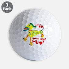 Three Legged Dogs Have More Fun Dark BK Golf Ball