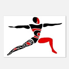 Red Warrior Asana Postcards (Package of 8)