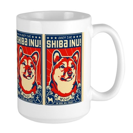 Obey the SHIBA INU! Coffee Mugs