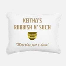 Keitha dump II trans Rectangular Canvas Pillow
