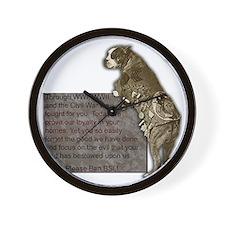 3-SgtStubby Wall Clock