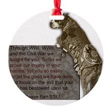 3-SgtStubby Ornament